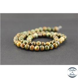 Perles semi précieuses en jaspe zèbre - Ronde/6 mm