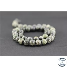 Perles semi précieuses en jaspe zèbre - Ronde/8 mm