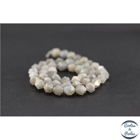Perles semi précieuses en labradorite - Pépite/7,5 mm