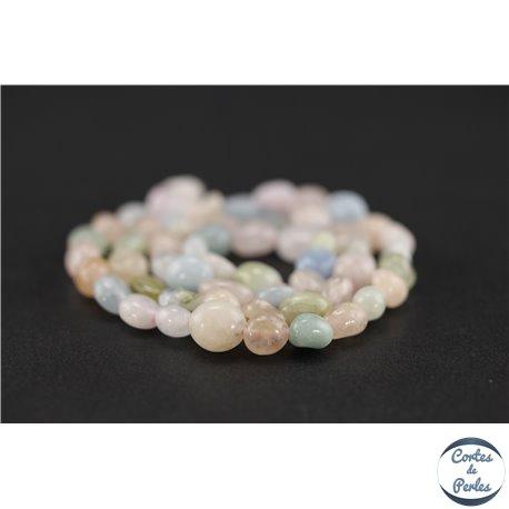 Perles semi précieuses en morganite - Nuggets/6-12 mm