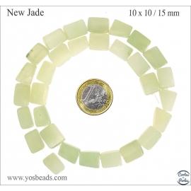 Perles semi précieuses en new jade - Nuggets/10 mm - Vert anis clair