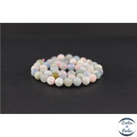 Perles semi précieuses en morganite - Ronde/8 mm