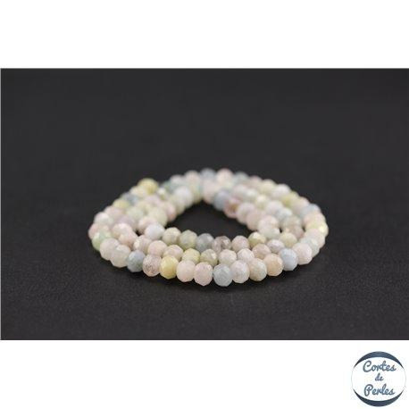 Perles semi précieuses en morganite - Roue/6 mm