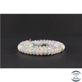 Perles semi précieuses en morganite - Roue/8 mm