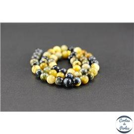 Perles semi précieuses en oeil de tigre - Ronde/8 mm - Grade A