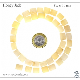 Perles en honey jade - Nuggets/10mm