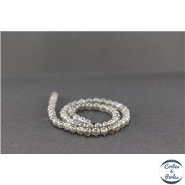Perles semi précieuses en pierre de lune noire - Ronde/6 mm