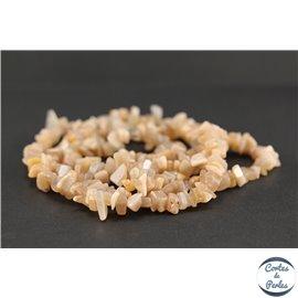 Perles semi précieuses en pierre de soleil - Chips/8-12 mm - Grade A