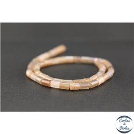 Perles semi précieuses en pierre de soleil - Tube/5 mm