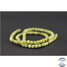 Perles en péridot - Rondes/4mm