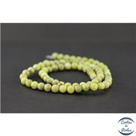 Perles semi précieuses en péridot - Ronde/6 mm