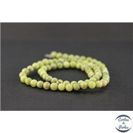 Perles en péridot - Rondes/6mm