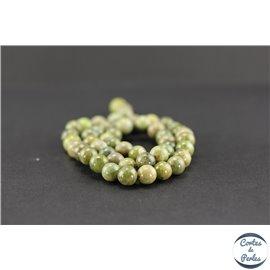 Perles semi précieuses en péridot - Ronde/8 mm