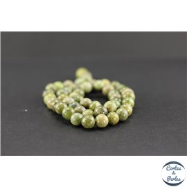 Perles en péridot - Rondes/8mm