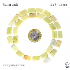 Perles en butter jade - Nuggets/12mm