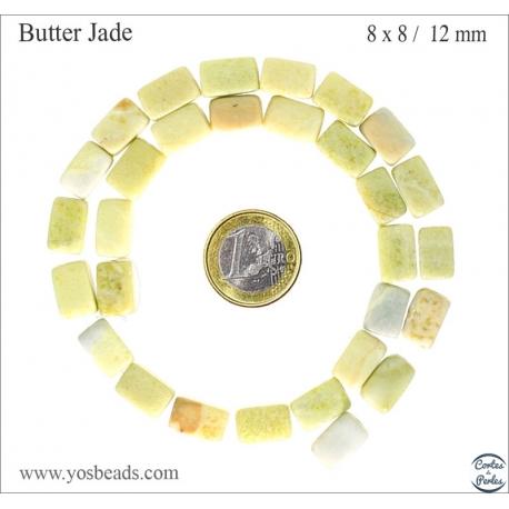 Perles semi précieuses en Jade - Nuggets/12 mm - Jaune