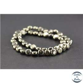 Perles semi précieuses en pyrite - Disque/8 mm