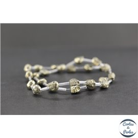 Perles semi précieuses en pyrite - Skull/8 mm