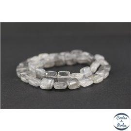 Perles semi précieuses en quartz nuage - Carré/10 mm