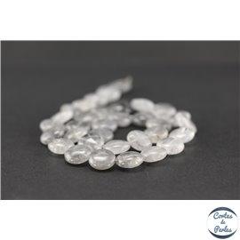 Perles semi précieuses en quartz nuage - Disque/12 mm