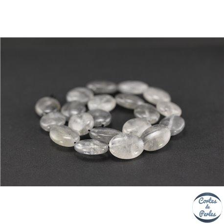 Perles semi précieuses en quartz nuage - Ovale/20 mm