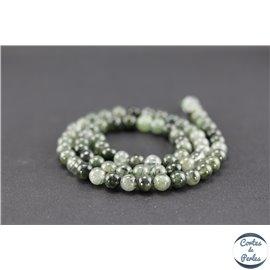 Perles semi précieuses en quartz rutile - Ronde/6 mm