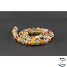 Perles semi précieuses en quartz rutile - Ronde/8 mm