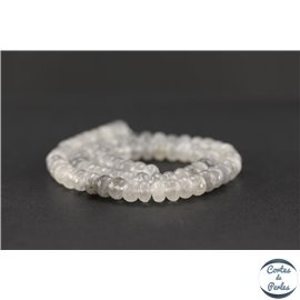 Perles semi précieuses en quartz nuage - Roue/8 mm