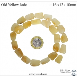Perles en yellow jade - Nuggets/16mm