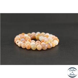 Perles semi précieuses en agate du Botswana - Ronde/8 mm