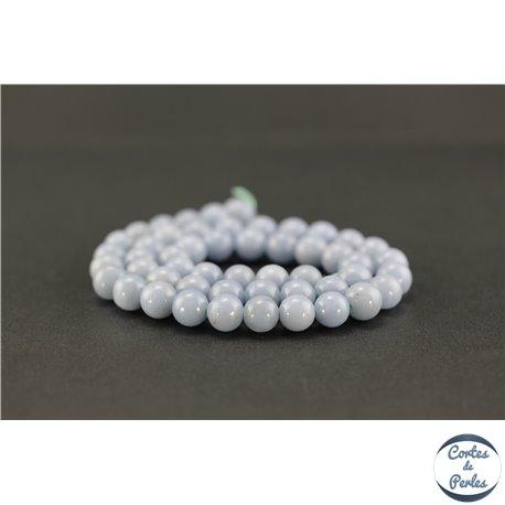 Perles semi précieuses en angélite - Ronde/8 mm