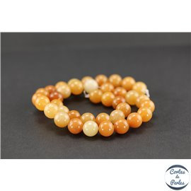 Perles en aventurine orange - Rondes/10mm