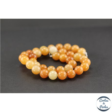 Perles semi précieuses en aventurine orange - Ronde/10 mm
