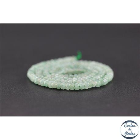 Perles semi précieuses en aventurine - Roue/4 mm