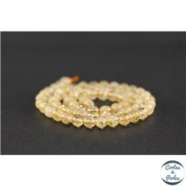 Perles semi précieuses en citrine - Ronde/6 mm