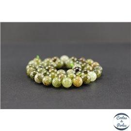 Perles semi précieuses en grenat vert - Ronde/10 mm