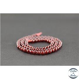 Perles semi précieuses en grenat - Ronde/4 mm - Grade A
