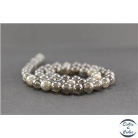 Perles semi précieuses en pierre de lune noire - Ronde/8 mm