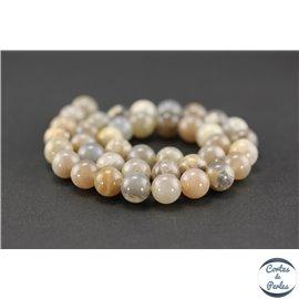 Perles en pierre de soleil noire - Rondes/10mm