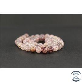 Perles semi précieuses en quartz framboise - Ronde/8 mm