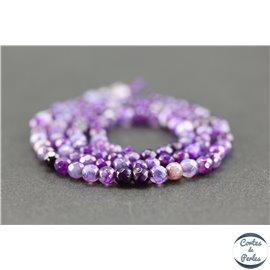 Perles en agate violette - Rondes/4mm