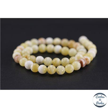 Perles semi précieuses en honey jade - Rondes/8 mm