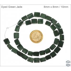 Perles en new jade vert - Rectangles/8mm