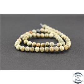 Perles en jaspe Korea - Rondes/6mm