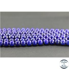 Perles semi précieuses en lapis lazuli d'Afghanistan - Ronde/8 mm