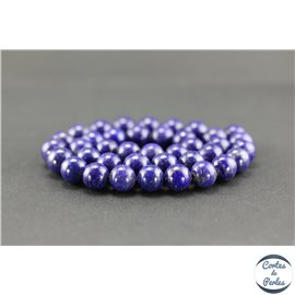 Perles semi précieuses en lapis lazuli d'Afghanistan - Ronde/10 mm