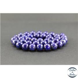 Perles en lapis lazuli d'Afghanistan - Rondes/10mm