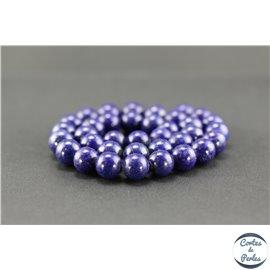 Perles semi précieuses en lapis lazuli d'Afghanistan - Ronde/11 mm