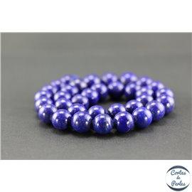 Perles semi précieuses en lapis lazuli d'Afghanistan - Ronde/12 mm