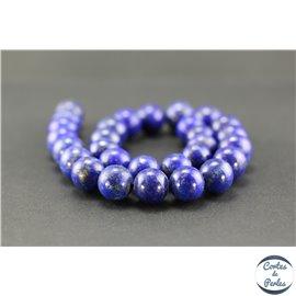 Perles semi précieuses en lapis lazuli d'Afghanistan - Ronde/13 mm